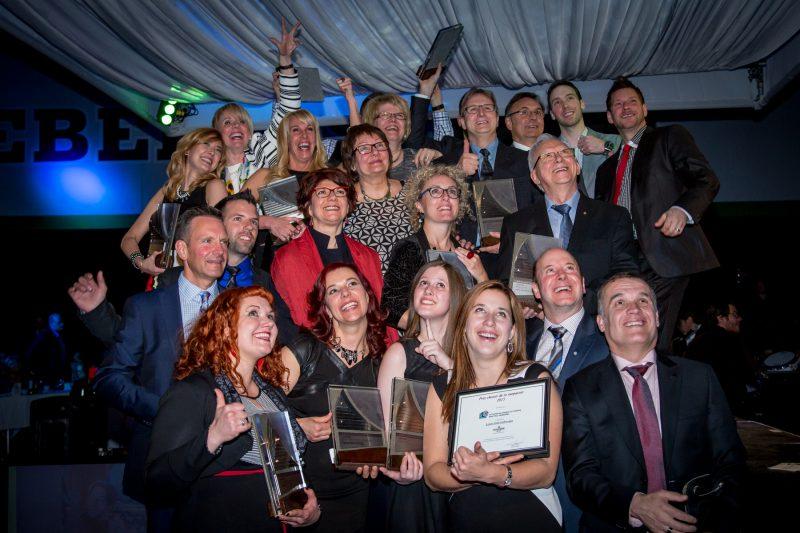 Les gagnants de la 30e édition du Gala du mérite économique célèbrent en grand!   Photo: TC Média – Pascal Cournoyer