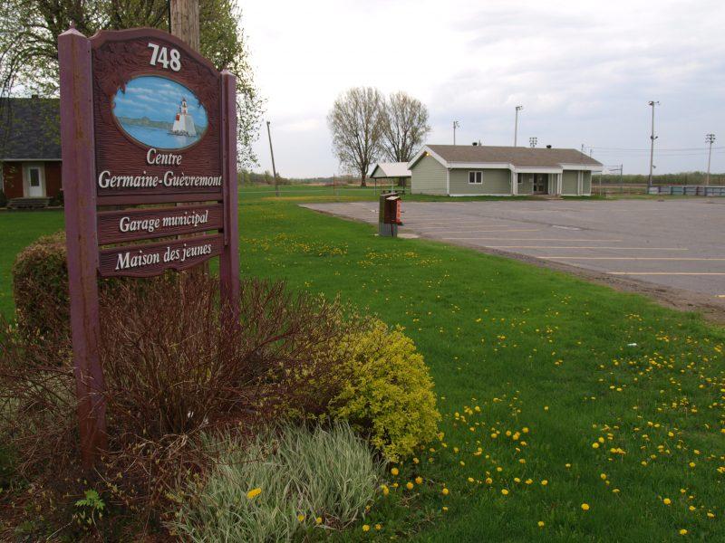 On trouve bon nombre de lopins de terre derrière le Centre Germaine-Guèvremont.