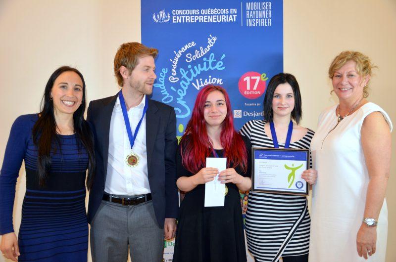 Le projet NOVA de l'école secondaire Fernand-Lefebvre a remporté le prix dans la catégorie secondaire 2e cycle à la finale régionale du Concours québécois en entrepreneuriat. | Gracieuseté