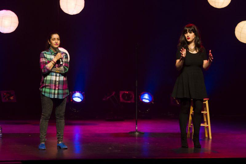 Les humoristes Mariana Mazza et Virginie Fortin seront de passage au Théâtre du Chenal-du-Moine le 6 juin, à 20h, pour présenter leur premier spectacle. | Photo : Gracieuseté