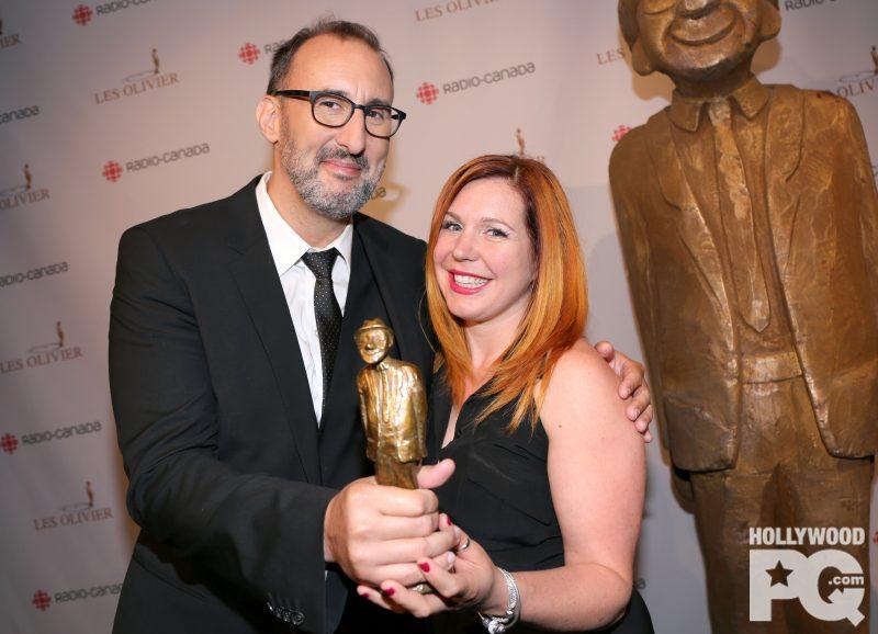 Martin Petit et Marie-Christine Lachance, après la réception de leur Olivier. | Photo: Gracieuseté – Karine Paradis/HollywoodPQ.com