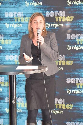 Josée Plamondon, directrice générale du CLD Pierre-De Saurel. | Photo: TC Média – Jean-Philippe Morin