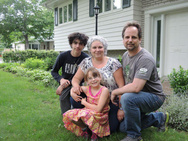 La famille en santé de Nathaly Lacasse et Benoit Champagne. | TC Média - Sarah-Eve Charland