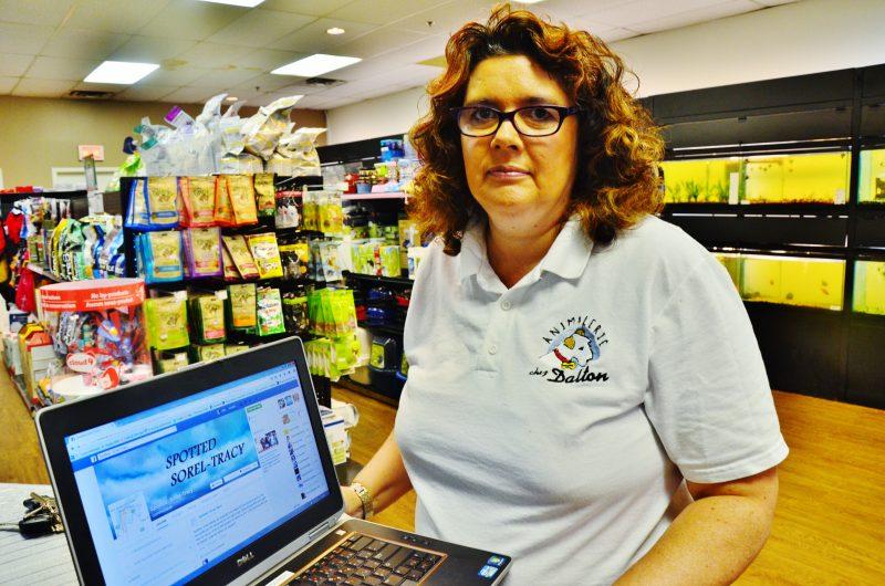 La propriétaire de l'animalerie Dalton, située aux Promenades de Sorel, affirme avoir été victime d'une atteinte à sa réputation sur la page Spotted Sorel-Tracy. | Photo : TC Média – Julie Lambert