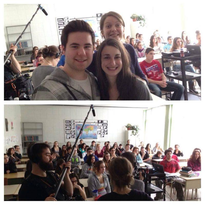 Des photos prises lors du tournage. | Photos: Gracieuseté NathB