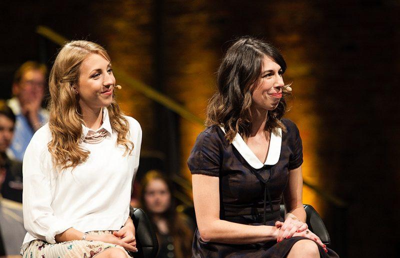 Vanessa Cournoyer (à droite) participe à une émission à MAtv. | Photo Gracieuseté – MAtv/Marie-Pier Boisvert
