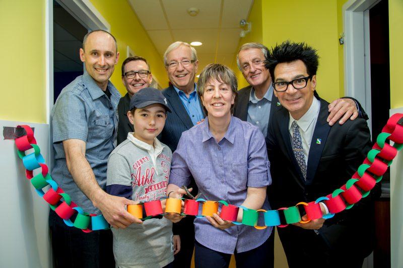 Le CPE des Marguerites, situé sur la rue Albert, a inauguré ses nouveaux locaux le 14 mai en présence de plusieurs organismes et personnalités du milieu. | Photo : TC Média – Pascal Cournoyer