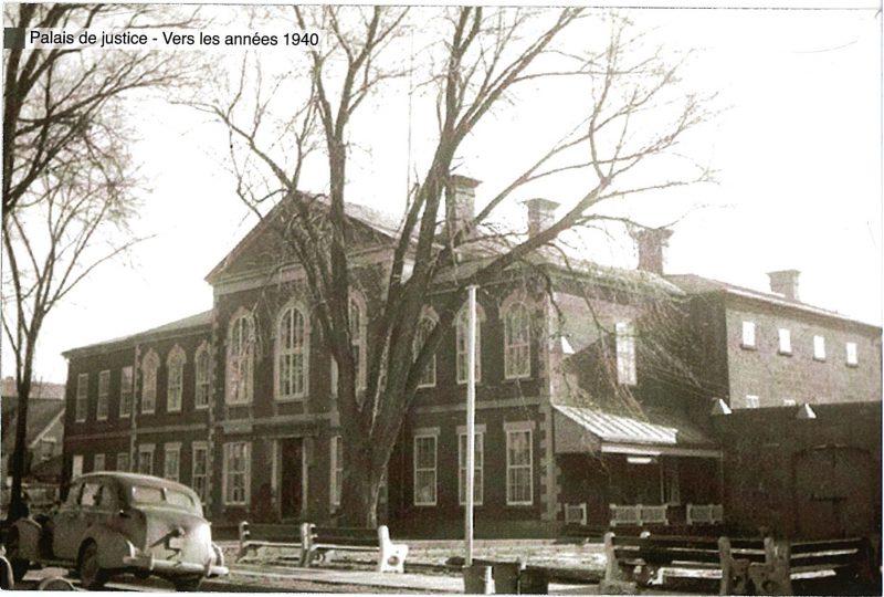 L'ancien palais de justice de Sorel-Tracy a été démoli en  1970. | Gracieuseté – Société historique Pierre-De Saurel