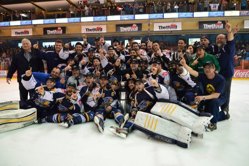 L'Isothermic de Thetford Mines a remporté les grands honneurs de la Ligue nord-américaine de hockey. | Photo: TC Média – Jean-Hugo Savard