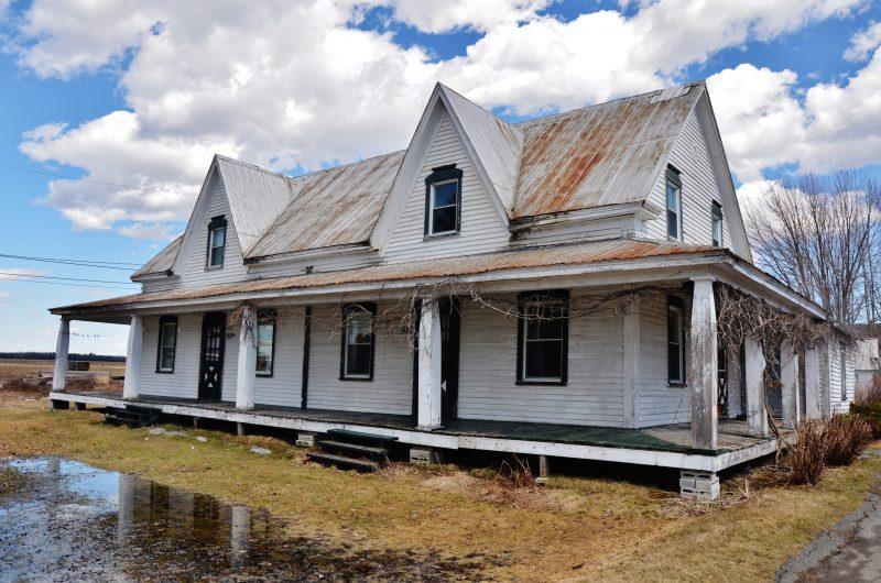 La maison Leduc dont des citoyens réclament la restauration.