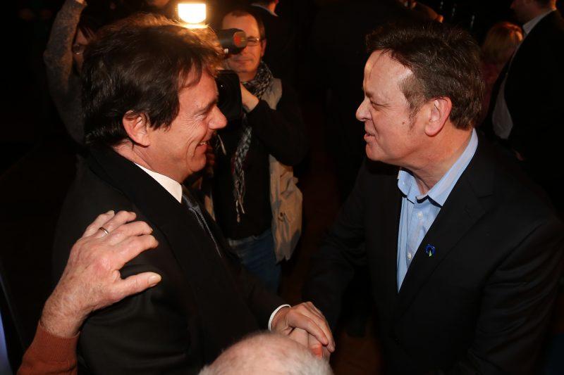 Pierre Karl Péladeau avait assisté à l'assemblée de mise en candidature de Sylvain Rochon, en janvier dernier. | TC Média - Pascal Cournoyer