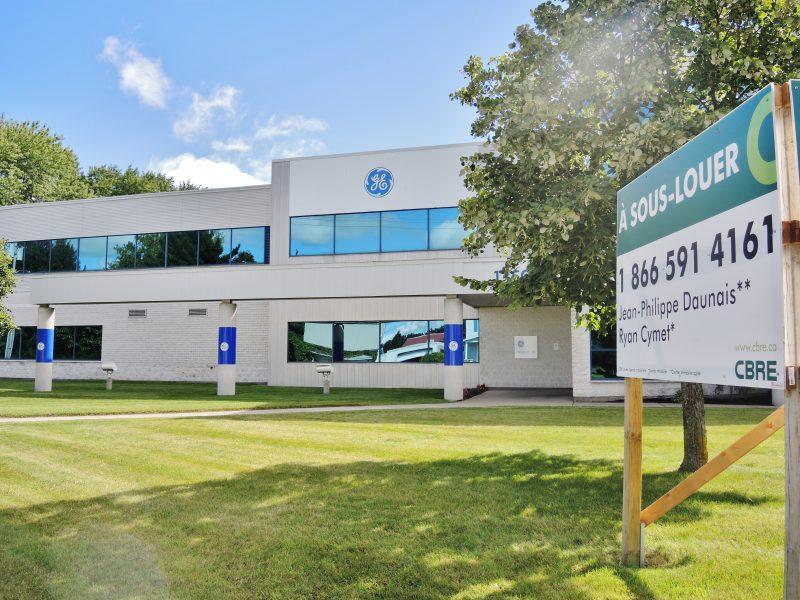 Le bâtiment administratif est à louer depuis quelques semaines. | Photo: TC Média – Julie Lambert