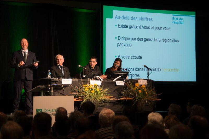 L'assemblée générale des membres de la Caisse a réuni 225 membres, le 25 avril dernier. | Photo: Gracieuseté/ Philippe Manning