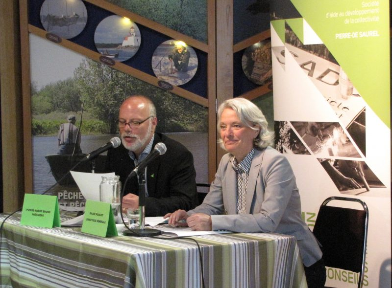 Le président du c.a. de la SADC Pierre-De Saurel Pierre-André Émond et sa directrice générale Sylvie Pouliot, lors de l'AGA du 30 mai | Gracieuseté