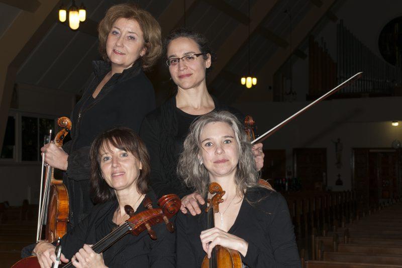 Le Quatuor Tiffany offrira une prestation ce dimanche 4 octobre au café-théâtre les Beaux Instants. | C Veevaete