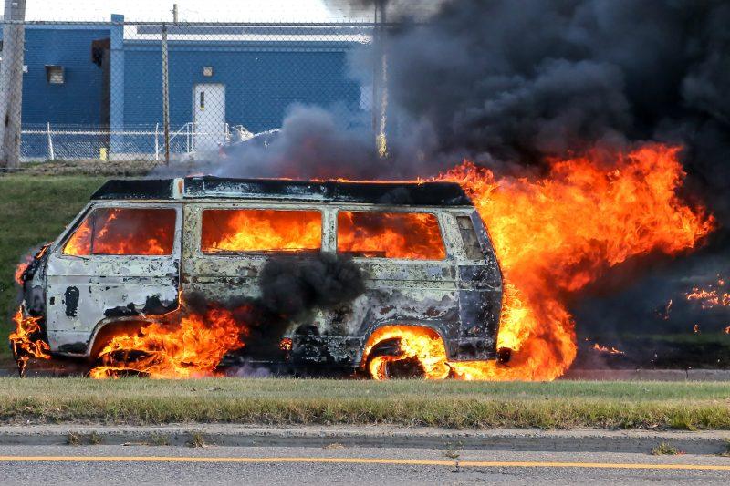 La camionnette Westfalia est une perte totale. | Pascal Cournoyer