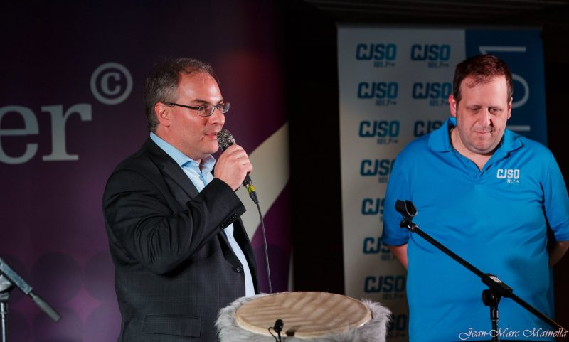 Laurent Cournoyer, président-directeur général de Cournoyer Communication Marketing, en compagnie de Luc Denoncourt, de CJSO. | Photo: Jean-Marc Mainella