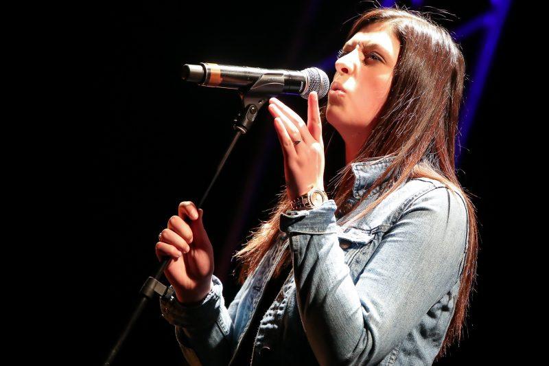 La Soreloise Kiève Antaya a livré toute une performance lors de Secondaire en spectacle, au quai Catherine-Legardeur, le 2 juin. | Pascal Cournoyer
