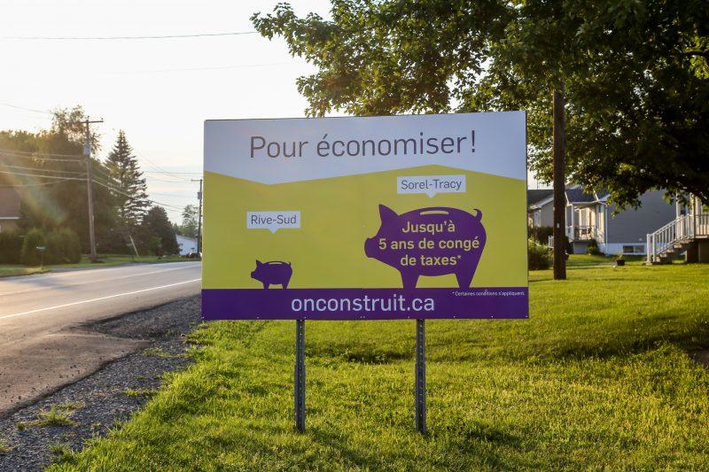 La stratégie publicitaire de Sorel-Tracy On construit est utilisée depuis plus de dix ans. | Photo: TC Média - Pascal Cournoyer