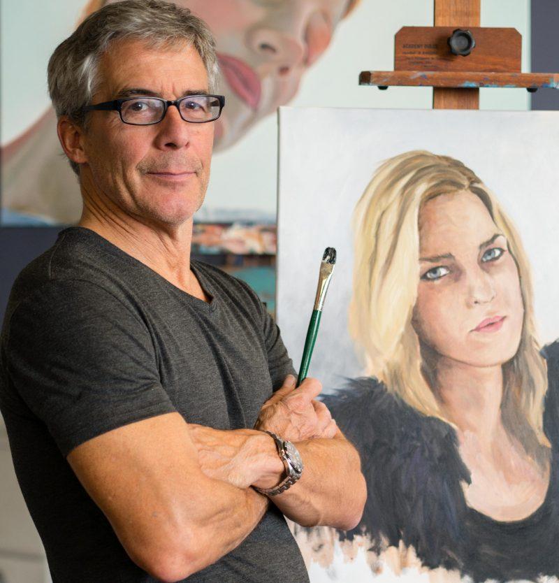 Le peintre Richard Paul présentera son exposition extérieure Wet on wet du 4 au 31 juillet prochain. | Photo: Gracieuseté