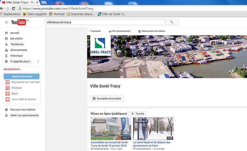 Sorel-Tracy est maintenant à l'ère du web sur YouTube pour la diffusion de ses séances ordinaires. | Photo - gracieuseté