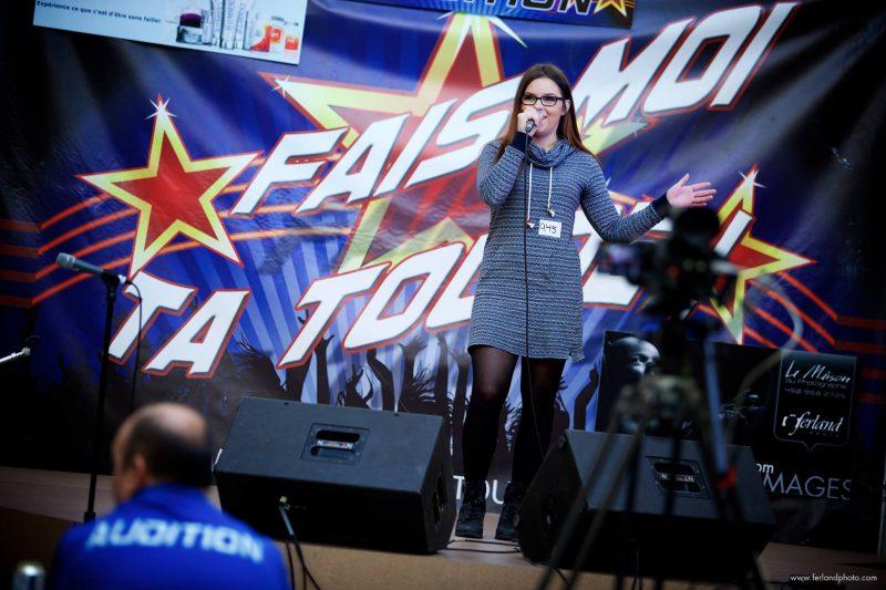 Mégane Côté lors des auditions qui ont eu lieu aux Promenades de Sorel en janvier. | Photo : Gracieuseté / www.ferlandphoto.com