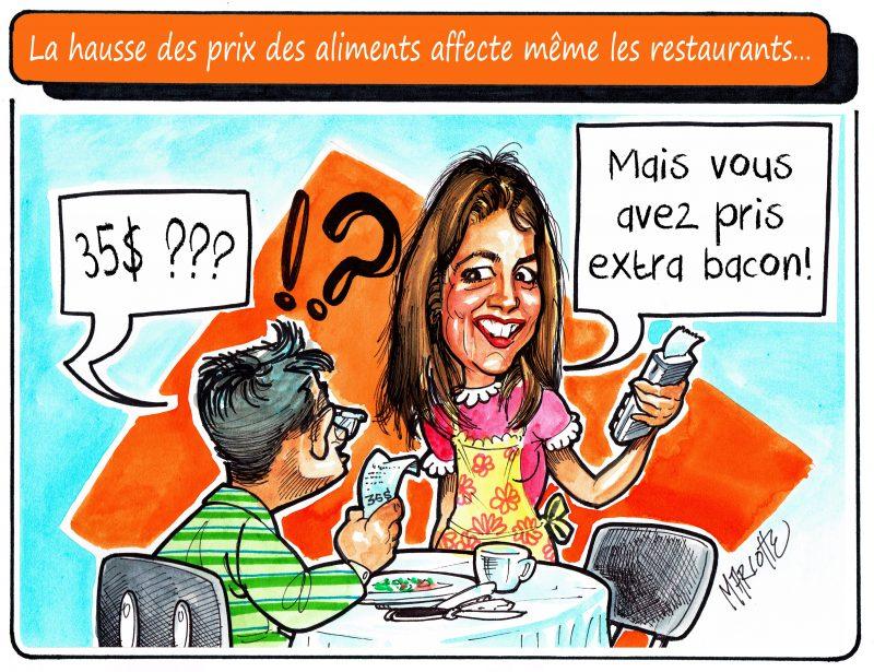 La hausse du prix du boeuf et du porc affecte les restaurateurs, mais aussi les clients! | Gilles Bill Marcotte