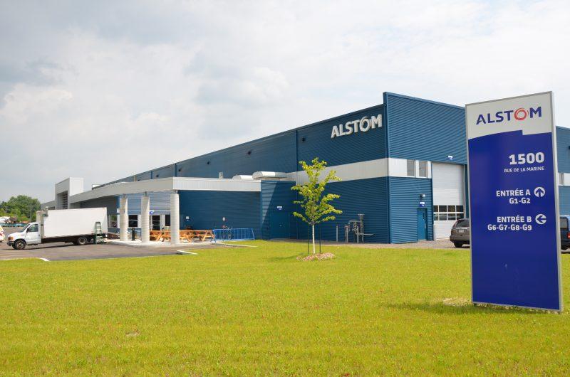 L'usine des bogies fabriqués par Alstom est située, rue de la Marine, dans le parc industriel Ludger-Simard de Sorel-Tracy. | Photo: TC Média - archives