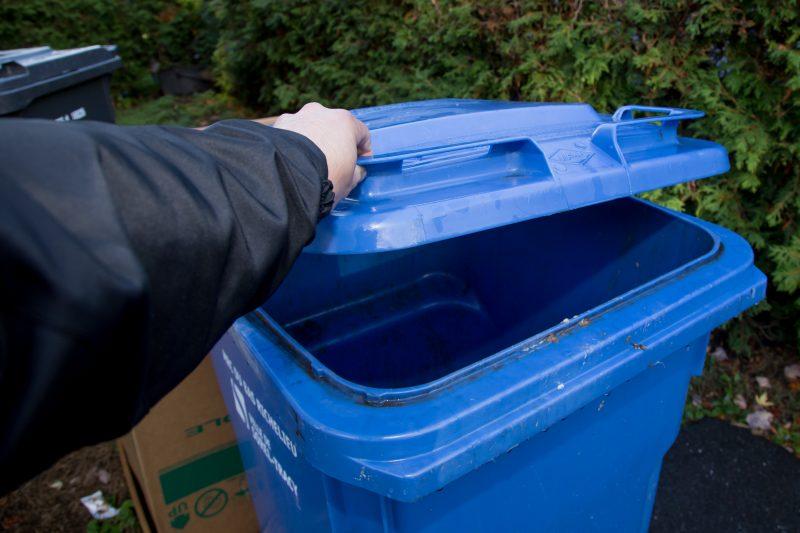 Le bac bleu sera ramassé deux fois en deux semaines vers la fin avril. | TC Média - Pascal Cournoyer