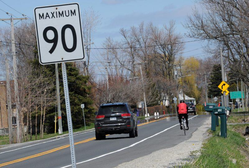 Des citoyens de Verchères et de Contrecœur réclament la réduction de la vitesse de 90 km/h à 70 km/h sur un tronçon de 4,4 km de la route Marie-Victorin. | TC Media – Robert Côté