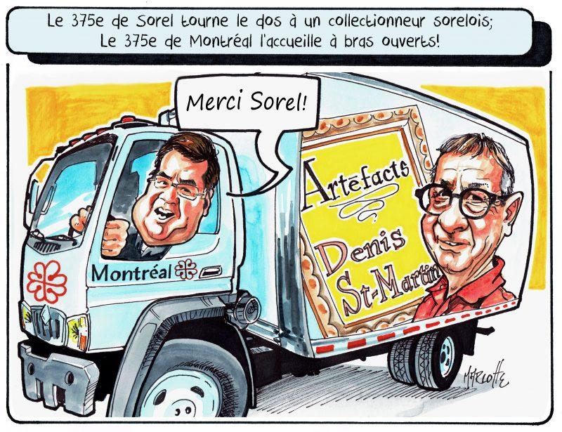 Denis St-Martin n'exposera pas à Sorel-Tracy, mais bien à Montréal pour son 375e anniversaire! | Gilles Bill Marcotte