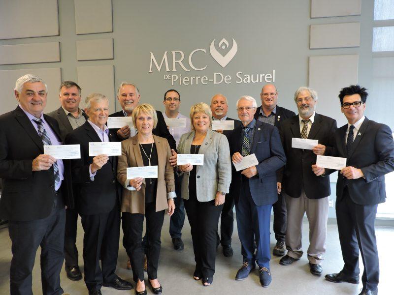 Les membres du Conseil et le directeur général de la MRC de Pierre-De Saurel. | Gracieuseté/MRC de Pierre-De Saurel