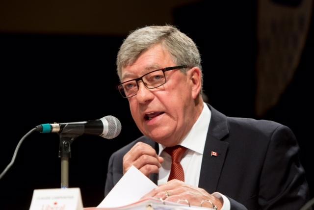 Le candidat du Parti libéral, Claude Carpentier.   TC Média - Pascal Cournoyer