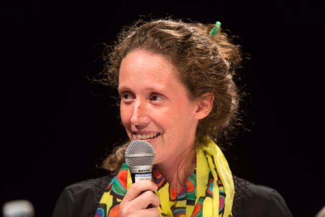 La candidate du Parti vert du Canada, Corina Bastiani.   TC Média - Pascal Cournoyer