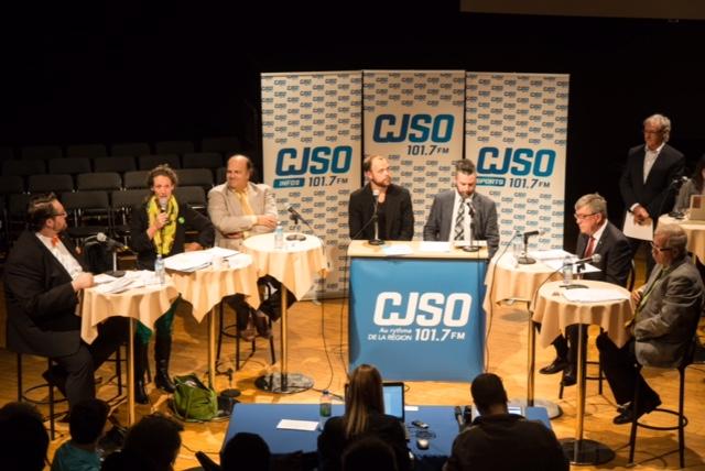 Le débat électoral a été organisé par la Chambre de commerce de Sorel-Tracy.   TC Média - Pascal Cournoyer