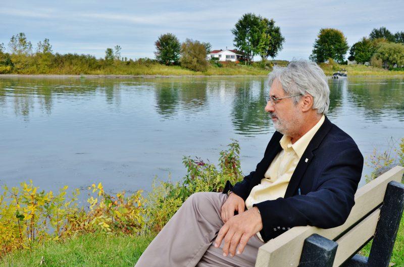 Le maire de Sainte-Anne-de-Sorel, Michel Péloquin, est en colère à la suite de l'autorisation de la Ville de Montréal de déverser ses eaux usées dans le fleuve Saint-Laurent. | Photo: TC Média - Julie Lambert