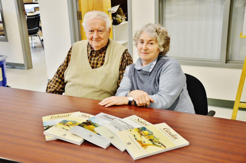 Roland Plante et Madeleine Blanche Lussier ont écrit cinq livres racontant l'histoire des familles fondatrices de Sorel-Tracy. | TC Média - Sarah-Eve Charland