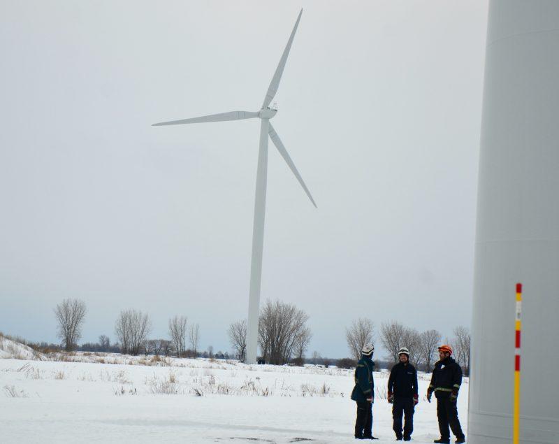 Le parc éolien a été lancé le 28 décembre 2016. | TC Média - Archives/Sarah-Eve Charland