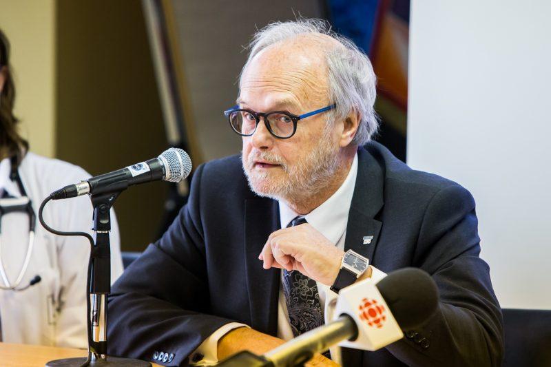 Le président du conseil d'administration de la Fondation Hôtel-Dieu de Sorel, Jocelyn Cayer. | TC Média - Pascal Cournoyer