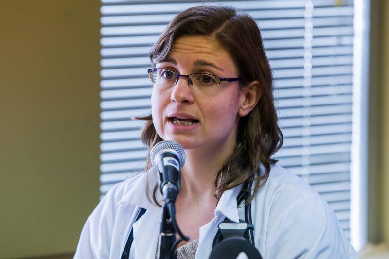La chef du service de pneumologie, Martine Dulude. | TC Média - Pascal Cournoyer