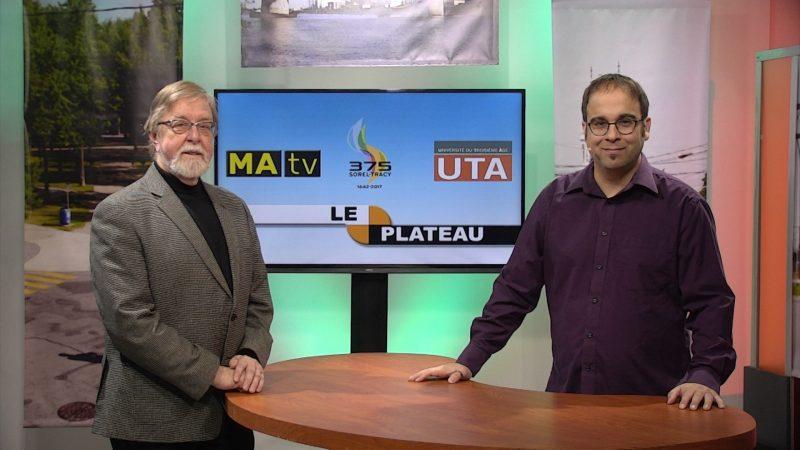 Le coordonnateur du cours, René Lachapelle et l'animateur Stéphane Martin. | Gracieuseté - MAtv