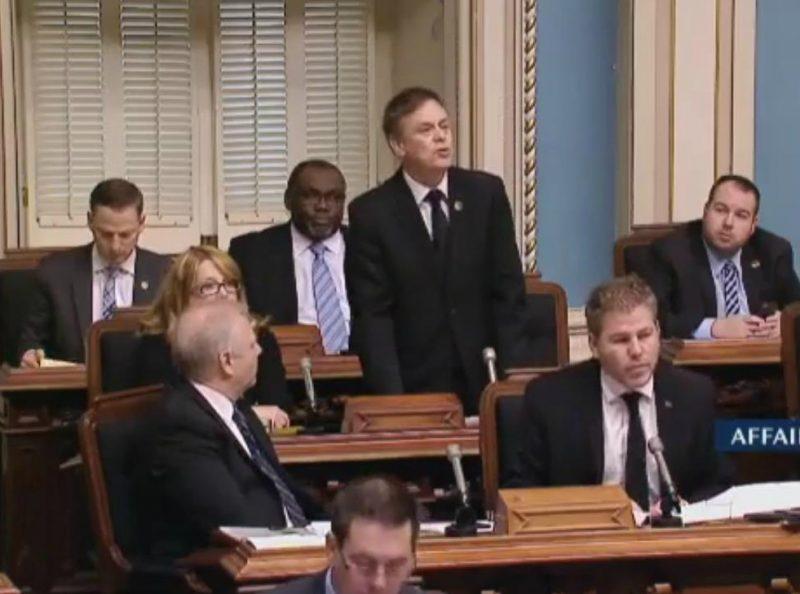 Sylvain Rochon a déposé une motion, le 7 février, à l'Assemblée nationale. | Capture d'écran/Assemblée nationale