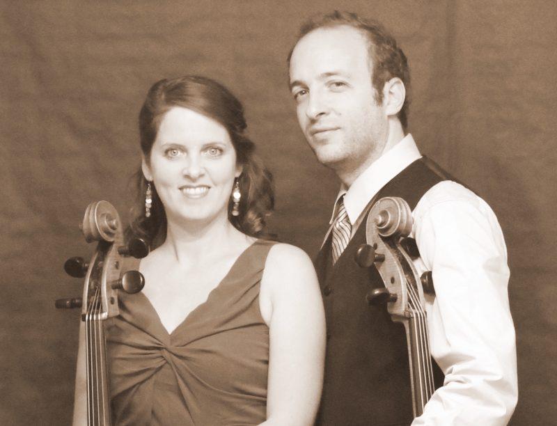 Les musiciens Caroline Goulet et Daniel Finzi, du groupe Deux violoncelles, offriront des œuvres de grands compositeurs le 15 mai. | Photo: Gracieuseté