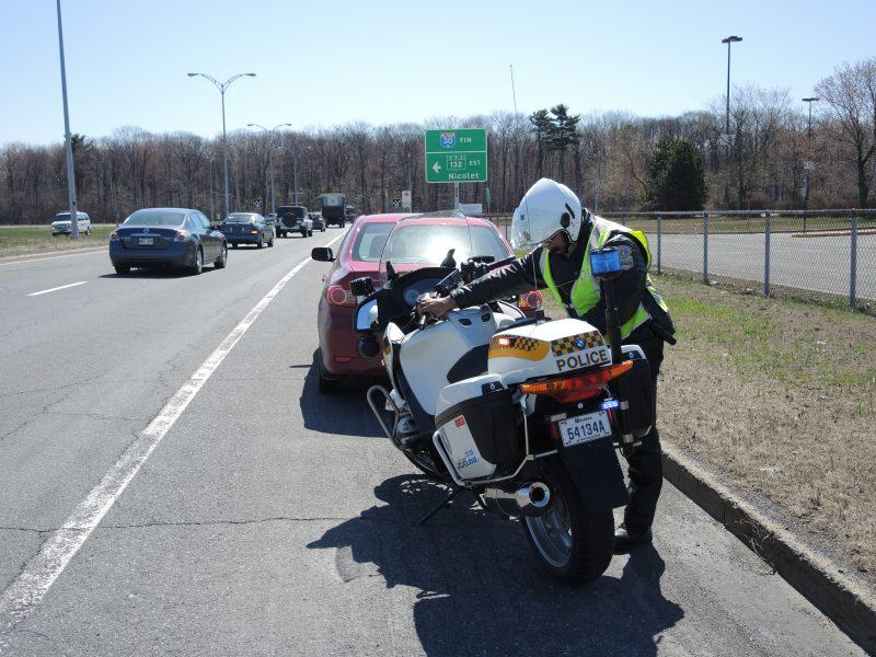 La majorité des constats d'infraction émis sur le territoire de la MRC Pierre-De Saurel sont donnés pour des excès de vitesse sur les routes provinciales. | TC Média - Sarah-Eve Charland