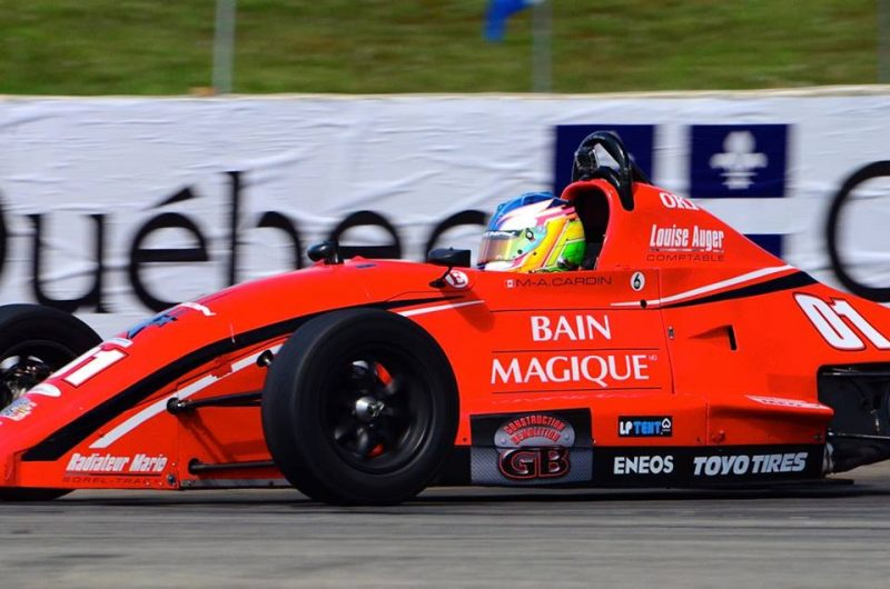 Marc-Antoine Cardin a terminé quatrième et sixième lors de ses deux courses au GP3R. | Gracieuseté de Philippe Belley www.WorldRacingPictures.com