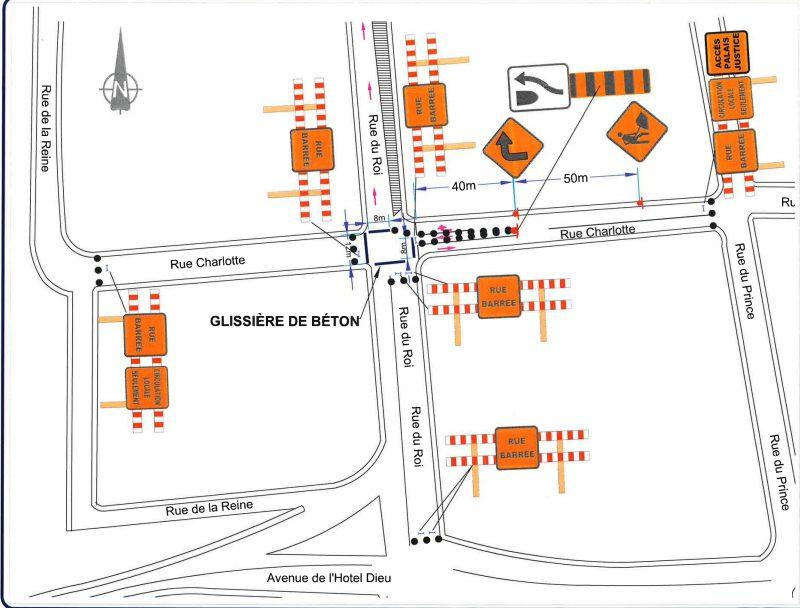 L'intersection Roi/Charlotte sera fermée pour un mois. | gracieuseté - Ville de Sorel-Tracy