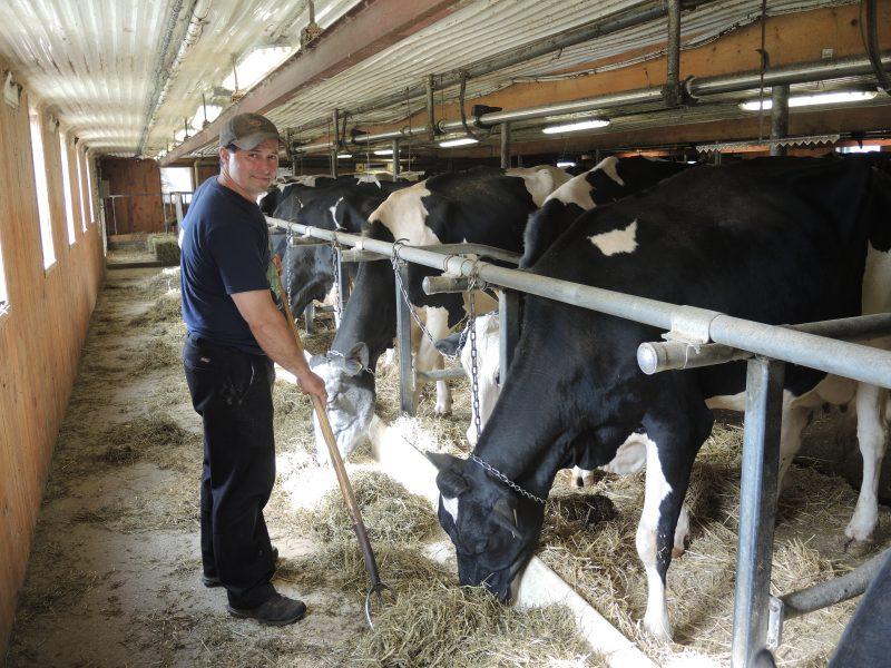 Le vice-président des Producteurs de lait de la Montérégie-Est, François Cournoyer. | Photo: TC Média - Archives