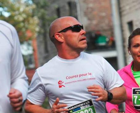 Maxim Martin, lors d'un demi-marathon en 2012. | Marathon FDC 2012 – Fondation Dollard-Cormier