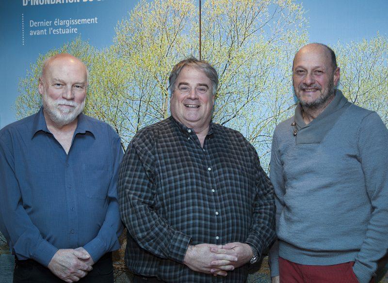 Pierre Plante, président, Ronald Gagnon, vice-président et animateur de la soirée, Marc Mineau, directeur général. | Copyright: parMo.ca