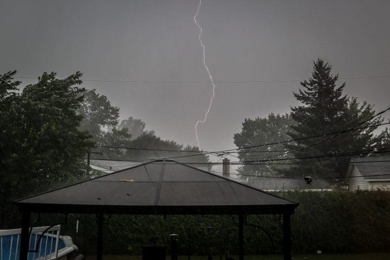 La tempête du 7 septembre a occupé les services d'urgence de la région pendant quelques heures. | Photo: Pascal Cournoyer